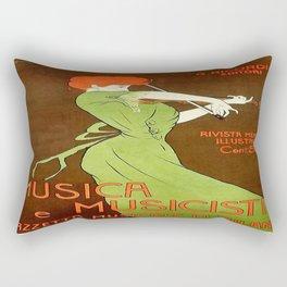 Vintage poster - Musica e Musicisti Rectangular Pillow