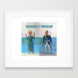 Evita y Juan Perón. Nacional y popular. Framed Art Print