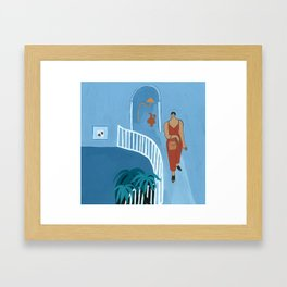 Going Out Framed Art Print