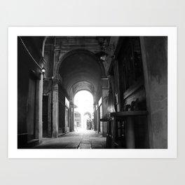 Italian perspective Art Print