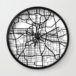 KANSAS CITY MISSOURI BLACK CITY STREET MAP ART Wall Clock