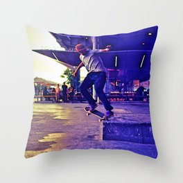 Colorful Skater Throw Pillow