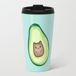Kawaii Cute AvoCATo Avocado Cat Print Travel Mug