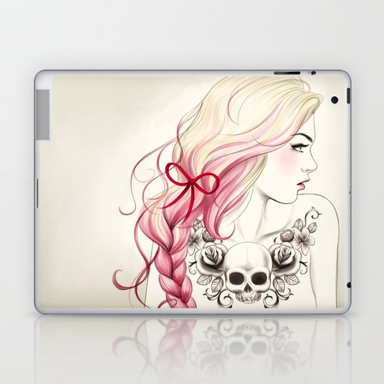 Tattoo Girl Laptop & iPad Skin