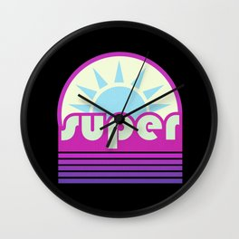 super duper ultraviolet Wall Clock