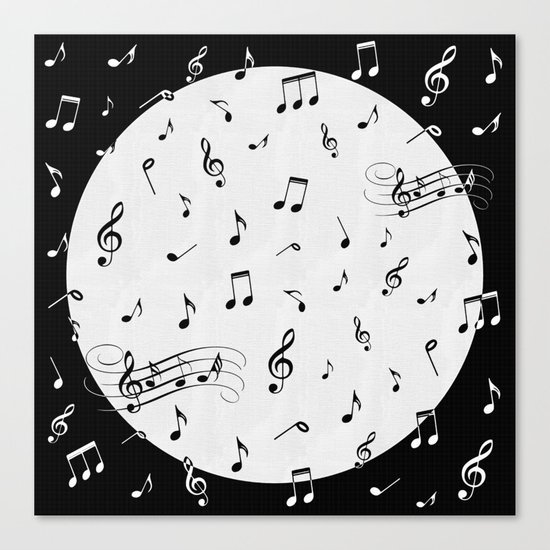 Music Black and White Canvas Print