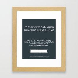 Lemony Snicket Quote Framed Art Print