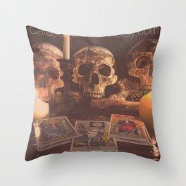 Catacomb Culture - Skulls and Tarot Throw Pillow