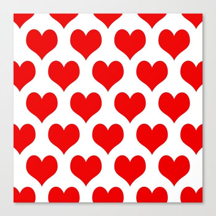 Holidaze Love Hearts Red Leinwanddruck