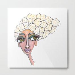 cauliflower girl Metal Print