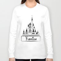 florida Long Sleeve T-shirts featuring Florida by Harkiran Kalsi