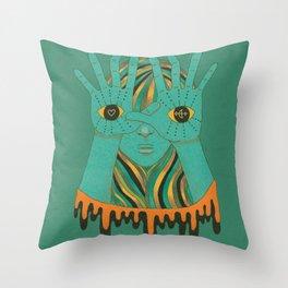eyes of gypsy  Throw Pillow