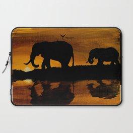 Elephant Sunset Laptop Sleeve