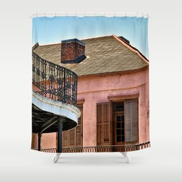 Open Shutters in the French Quarter Shower Curtain
