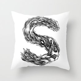 The Illustrated S Throw Pillow