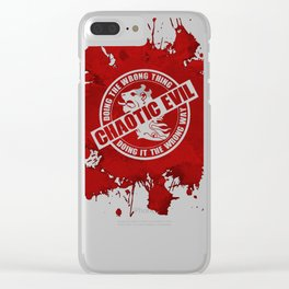 d20 Chaotic Evil Alignment Clear iPhone Case