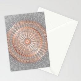 Rose Gold Gray Mandala Stationery Cards