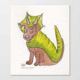 TYRA STYRACOSAURUS  #dinodoggo Canvas Print
