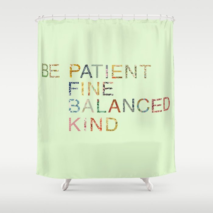Skinny Love Quote Shower Curtain