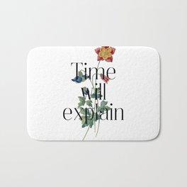Time will explain. Jane Austen Collection Bath Mat