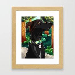 Good boy Framed Art Print