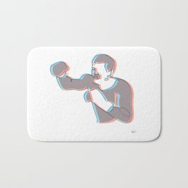 Boxing Ali (coulour) Bath Mat