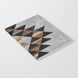 Urban Tribal Pattern No.10 - Aztec - Concrete and Wood Notebook