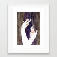 fabric Framed Art Prints featuring Fabric by Jana Heidersdorf Illustration
