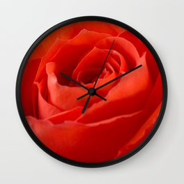 Red Rose - Up Close and Personal Wall Clock