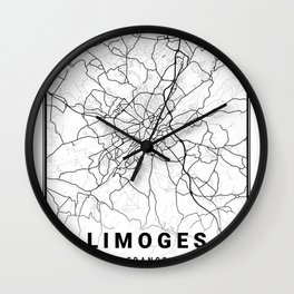 Limoges Light City Map Wall Clock