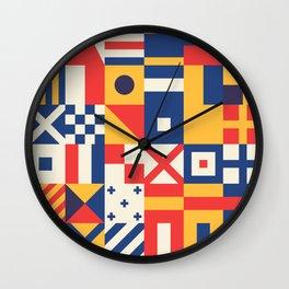 Maritime Nautical Signal Flags Wall Clock