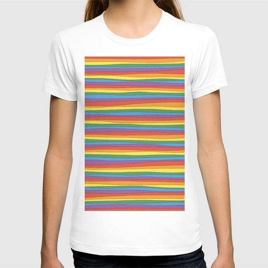 Horizontal Rainbow Stripes by silviabelli92