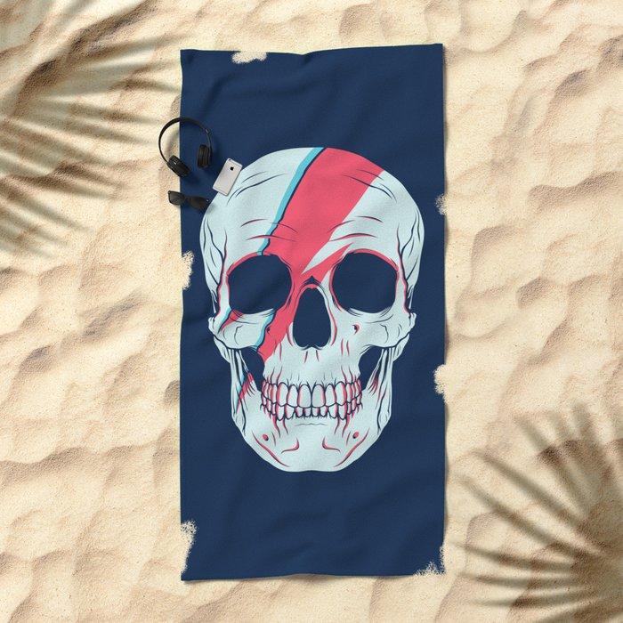 Bowie Skull Beach Towel