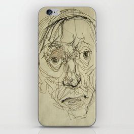 Double Faces uncropped, art iPhone Skin