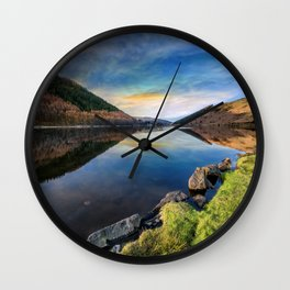 Lake Geirionydd Sunset Wall Clock
