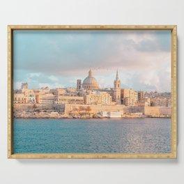 Valletta Sunset Serving Tray