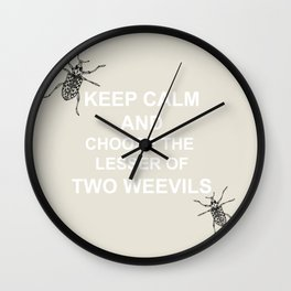The Lesser of Two Weevils Wall Clock