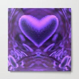 Sprouting Love (violet) Metal Print
