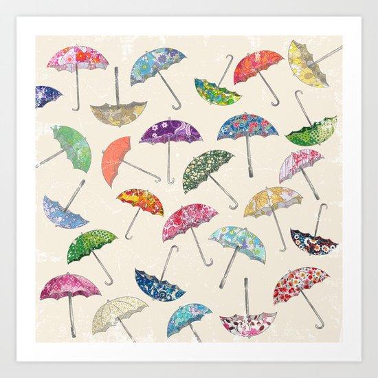 Umbrella & umbrellas Art Print