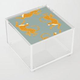 Leopard Race - blue Acrylic Box