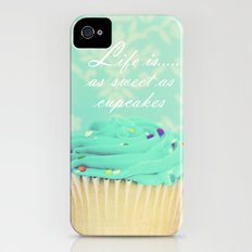 Life is as Sweet as Cupcakes Slim Case iPhone (4, 4s)