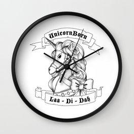 Skyrim Parody - Unicorn Born LAA DI DAH Wall Clock