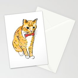 CAT WITH A BOW TIE Stationery Cards