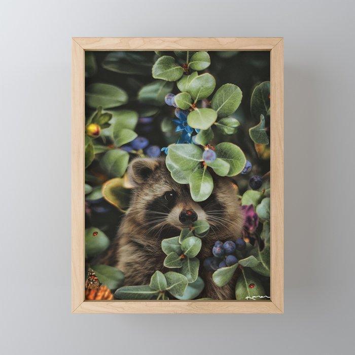 don't wait until heaven to bloom Framed Mini Art Print