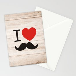 I love mustache Stationery Cards