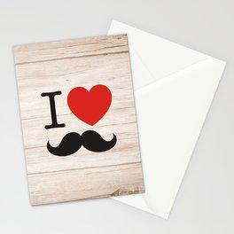 I love mustache Stationery Cards