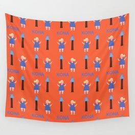 hello kona Wall Tapestry