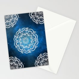 Mandala into Galactic stars Stationery Cards