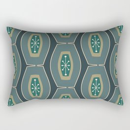 Midcentury Funky Chain Pattern Seaweed Rectangular Pillow