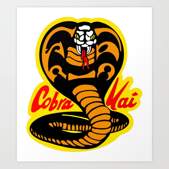 Cobra Kai Karate Kid Logo Art Print by dudepal   Society6